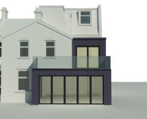 double storey house kitchen extension design